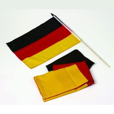 Deutschland - Fahne mit Holzstab