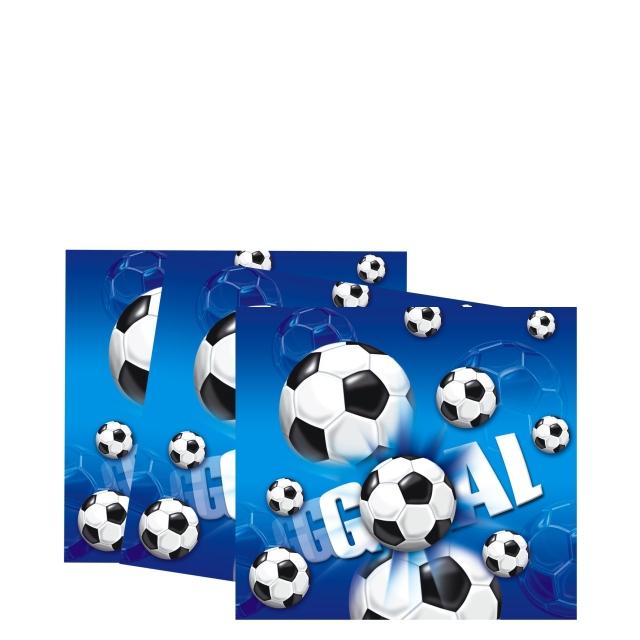 Fußball - Servietten GOAL blau