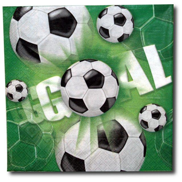 Fußball - Servietten GOAL grün