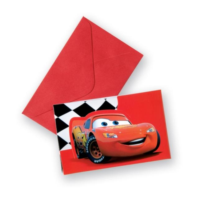 Einladungskarten Cars Red