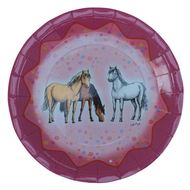 Pferde - Pappteller Traumpferdchen Blumen & Sterne