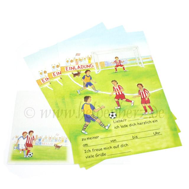 Fußball - Einladungskarten